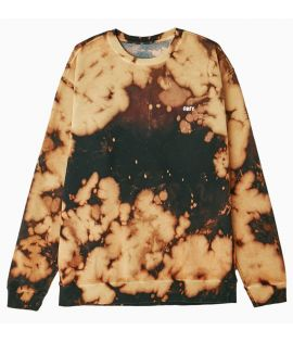 Sweat Crewneck Obey The Creeper Bleach Spill Brun