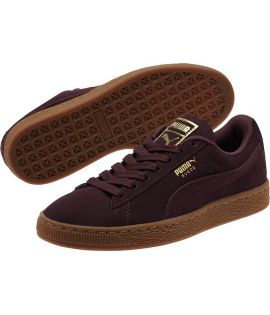 Chaussures Puma Suede Classic Gld Winetasting Bordeaux Or