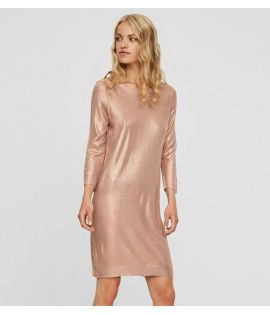 Robe Brillante Vero Moda Gustine Dress Rose