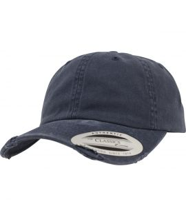 Casquette Incurvée Flexfit Low Profile Destroyed Bleu marine
