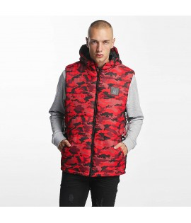 Veste sans manches Who Shot Ya? / BigWho Quilted Rouge
