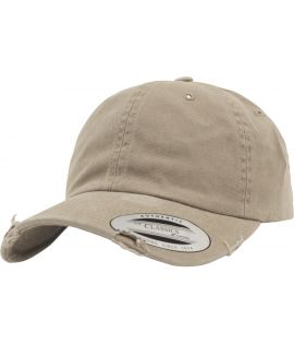 Casquette Incurvée Flexfit Low Profile Destroyed khaki