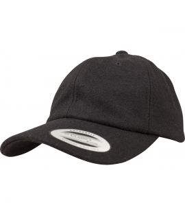 Casquette Incurvée Flexfit Low Profile Melton Wool Gris Laine Melton