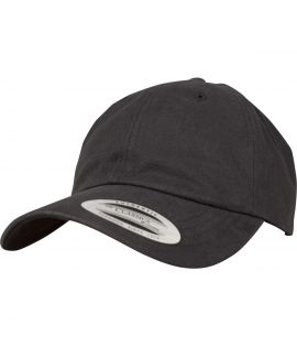 Casquette Incurvée Flexfit Low Profile Peached Cotton Twill Noir