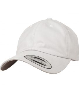 Casquette Incurvée Flexfit Low Profile Peached Cotton Twill Gris claire