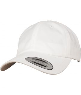 Casquette Incurvée Flexfit Low Profile Peached Cotton Twill Blanc