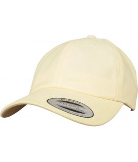 Casquette Incurvée Flexfit Low Profile Peached Cotton Twill Jaune