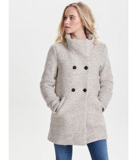 Manteau Only Sophia Wool Coat Taupe Chiné Laine