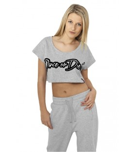 T-shirt ample et court URBAN DANCE Gris / Noir Dance or Die !
