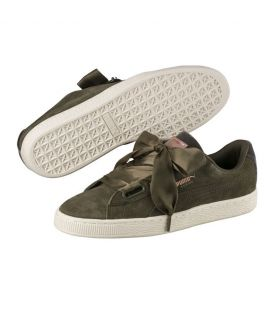 Chaussures Puma Suede Heart VR Olive Do You Velours