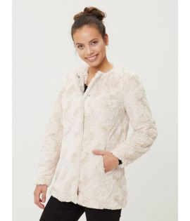 Veste Femme Vero Moda Curl Long Fake Fur Jacket Blanc Fourrure