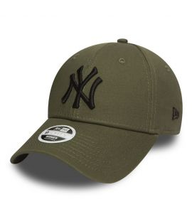 Casquette Incurvée Femme New Era New York Yankees Olive Noir 940