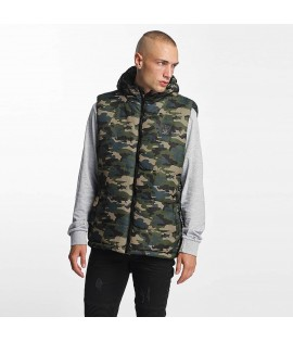 Veste sans manche Who Shot Ya? / BigWho Quilted in green
