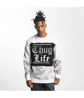 Sweat Thug Life Jumper New Life Blanc