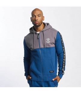 Sweat Zippé Thug Life Zip Hoody Wired Bleu