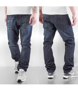 Jean Rocawear Straight Fit Leather Patch Bleu
