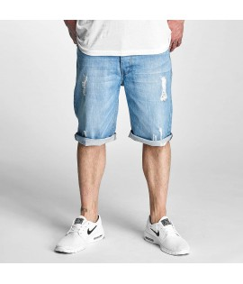 Denim Short Rocawear Relax Fit Bleu Délavé