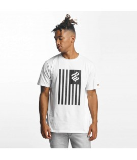 T-shirt Rocawear Group Flag Blanc