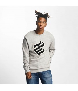 Sweat RocawearPullover Retro Basic Flame CrewNeck Gris