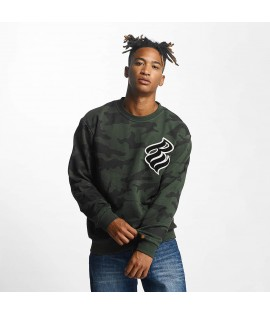 Sweat Rocawear Pullover Retro Army CrewNeck Olive