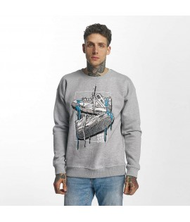 Sweat Dangerous DNGRS Pullover Used Gris