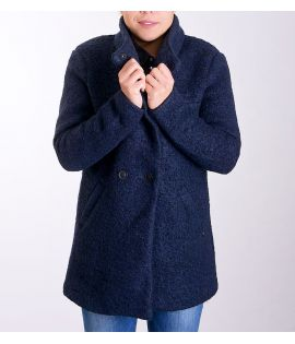 Manteau Only Sophia Wool Coat Bleu Marine Chiné Laine
