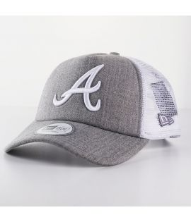 Casquette Trucker New Era Atlanta Braves Clean Trucker Gris