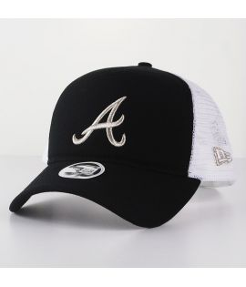 Casquette Trucker Femme New Era Atlanta Braves Essential Truck Noir