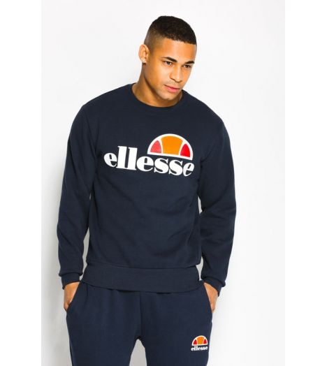 sweat ellesse succiso crew bleu marine collection ellesse heritage prestige center. Black Bedroom Furniture Sets. Home Design Ideas